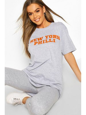 Boohoo New York Philly Slogan Graphic Print T-Shirt