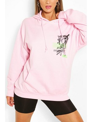 Boohoo New York Pocket Print Hoody