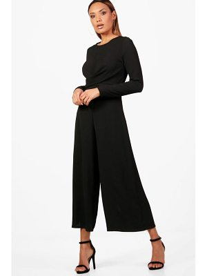 Boohoo Wrap Front Woven Jumpsuit