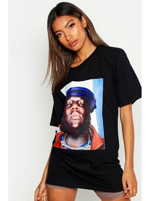 Boohoo Notorious Biggie Face Licence Tee