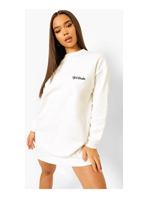 Boohoo Ofcl Studio Embroidered Sweat Dress