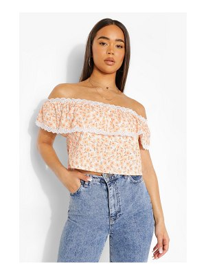 Boohoo Off Shoulder Crop Top