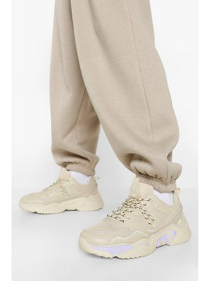 Boohoo Official Cleated Sole Chunky Sneakers