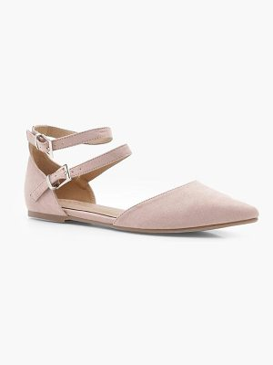 Boohoo Double Strap Pointed Flats