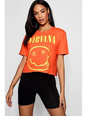 Boohoo Nirvana Bright Cropped Tee