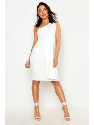 Boohoo One Shoulder Midi Dress