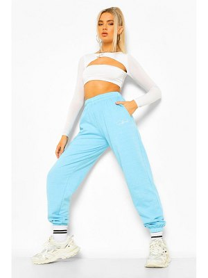 Boohoo Overdyed Loose Fit Official Embroidered Jogger