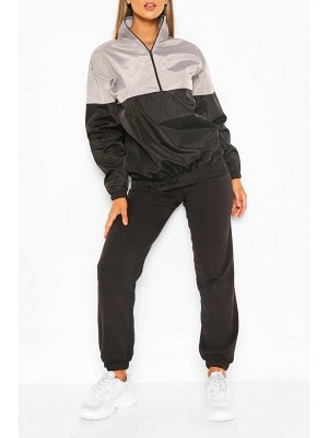 Boohoo Overhead Funnel Neck Panelled Windbreaker