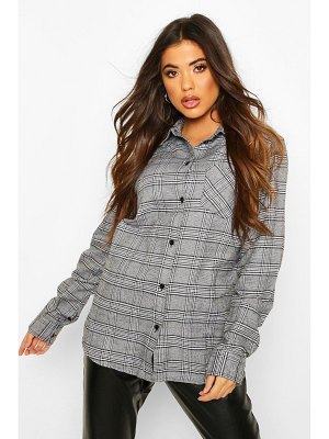 Boohoo Oversized Boyfriend flannel Shirt