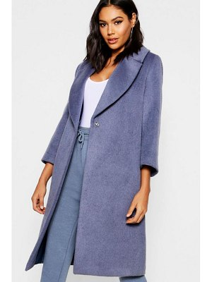 Boohoo Oversized Brushed Wool Look Coat