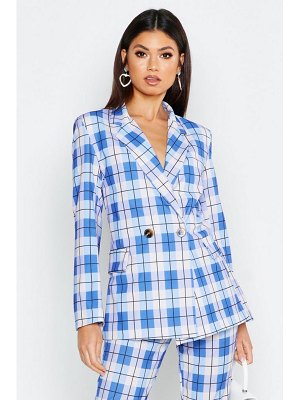 Boohoo Oversized Printed flannel Blazer