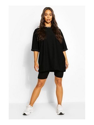 Boohoo Oversized Slash Neck Sweat Top