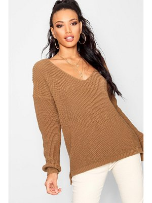 Boohoo Oversized V Neck Sweater