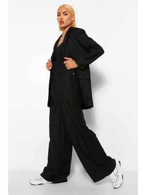 Boohoo Oversized Wide Leg Paperbag Pants