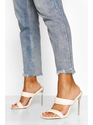 Boohoo Padded Strap Clear Heel Mules