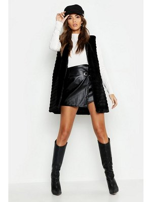 Boohoo Panelled Faux Fur Gilet