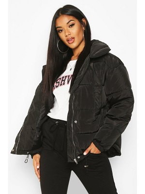 Boohoo Panelled Funnel Neck Puffer