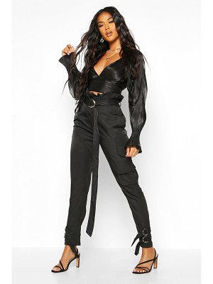 Boohoo Paper Bag Belted Cargo Trouser