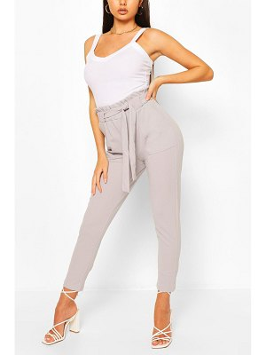 Boohoo Paper Bag Waist Belted Lounge Trouser
