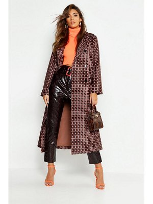 Boohoo Patterned Trench
