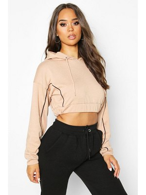 Boohoo Piping Detail Cropped Hoody