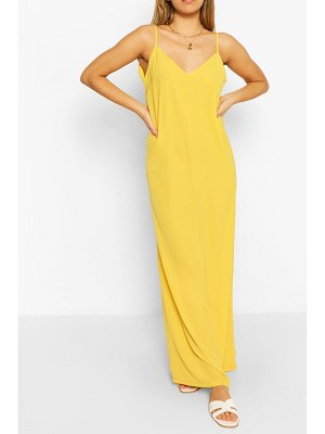 Boohoo Plain Strappy Maxi Dress