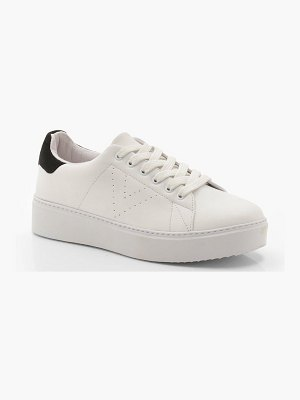 Boohoo Platform Lace Up Sneakers