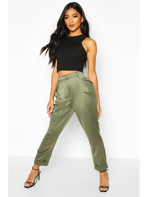 Boohoo Pleat Front Turn Up Woven pants