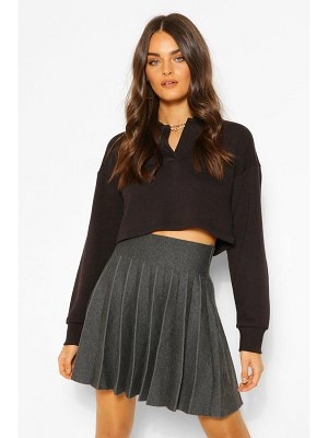Boohoo Pleated Knit Tennis Skirt