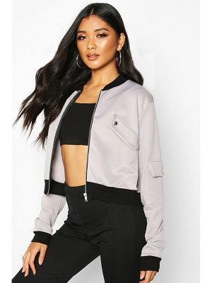 Boohoo Pocket Detail Bomber Jacket