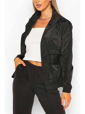Boohoo Pocket Detail Funnel Neck Windbreaker