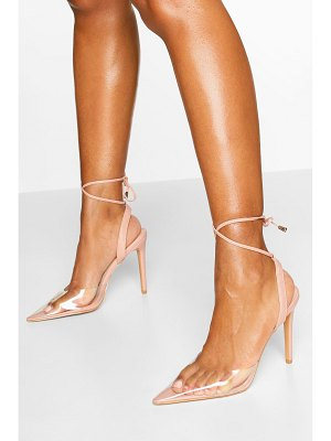 Boohoo Pointed Clear Ankle Wrap Courts
