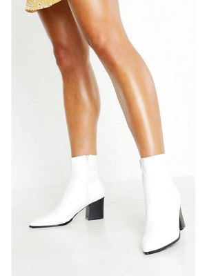 Boohoo Pointed Toe Low Block Ankle Boots