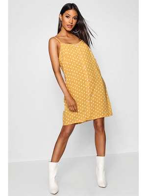Boohoo Polka Dot Button Through Cami Mini Dress