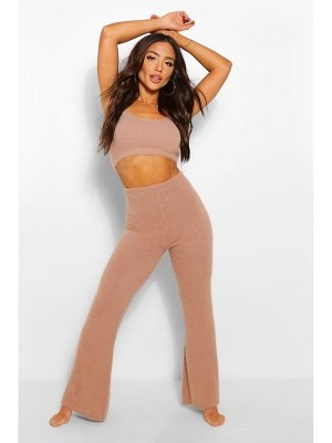 Boohoo Premium Fluffy Lounge Wide Leg Trouser