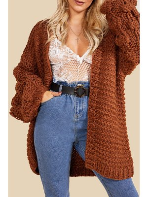 Boohoo Premium Hand Knitted Chunky Cable Cardigan