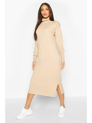 Boohoo Premium Knitted Roll Neck Midi Dress