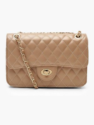 Boohoo PU Quilted Cross Body