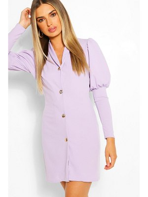 Boohoo Puff Sleeve Double Breasted Blazer Dress