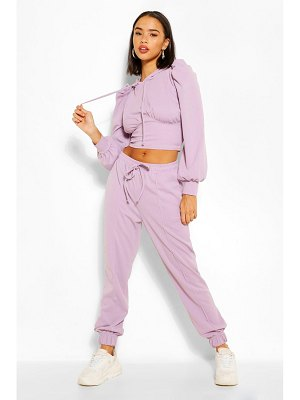 Boohoo Puff Sleeve Hoody And Jogger Set