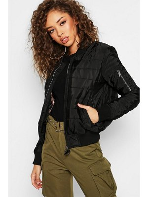 Boohoo Quilt Detail Bomber Jacket