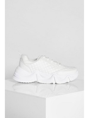 Boohoo Quilted Chunky Sports Trainer