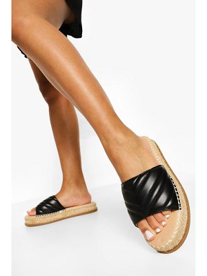 Boohoo Quilted Espadrille Mule