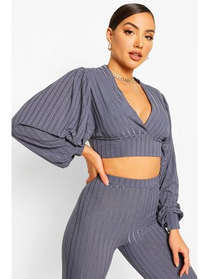 Boohoo Recycled Rib Batwing Crop Top