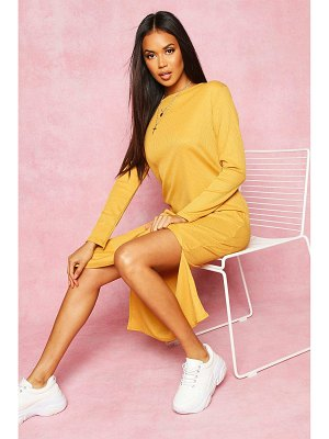 Boohoo Recycled Rib Side Split Tunic