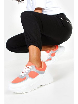 Boohoo Reflective Panel Chunky Sole Sneakers