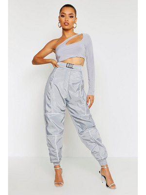 Boohoo Reflective Piping Belted Joggers