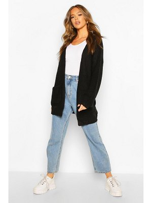 Boohoo Rib Knit Balloon Sleeve Cardigan