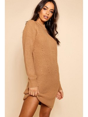 Boohoo Rib Knit Sweater Dress