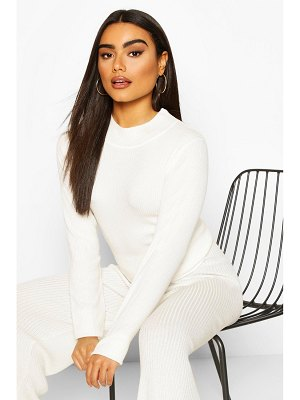 Boohoo Rib Knit Turtle Neck Top